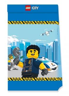 Offizielle Lego City™-Partytüten aus FSC®-Papier 4 Stück bunt
