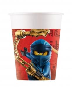 Lego Ninjago™-Trinkbecher Kindergeburtstag-Partydeko 8 Stück bunt 200 ml