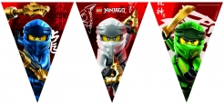 Offizielle Lego Ninjago™-Wimpelgirlande bunt 2,3 m