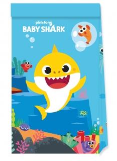 Baby Shark™ Partytüten Kindergeburtstag 4 Stück bunt
