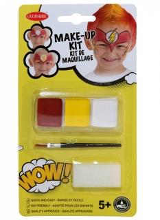 Superhelden-Schminkset für Kinder Faschingsschminke rot-gelb-weiss