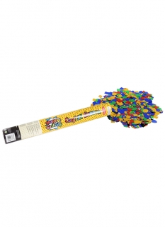 Happy Birthday Konfettikanone mit Stickern bunt 40 cm