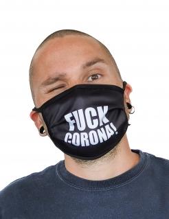 Fuck Corona-Gesichtsmaske Mund-Nasen-Maske Accessoire schwarz-weiss