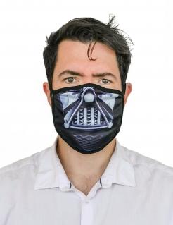 Dunkler Herrscher Gesichtsmaske Mund-Nasen-Maske Accessoire schwarz-weiss
