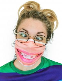 Zahnspangen-Gesichtsmaske Alltagsmaske beige