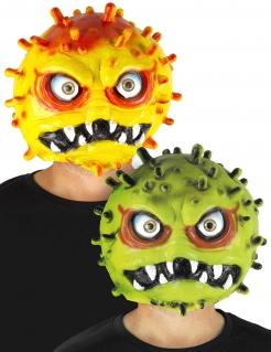 Witzige Coronavirus-Maske aus Kunststoff gelb grün