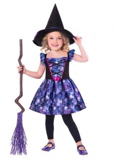 Niedliches Hexenkostüm für Mädchen violett-schwarz
