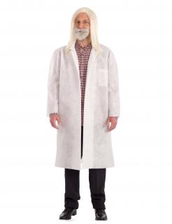 Covid-Wissenschaftler lustiges Herrenkostüm weiss-grau
