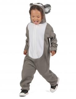Flauschiges Koala-Kinderkostüm grau-weiß