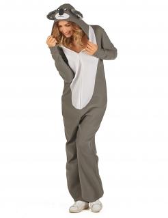 Süßes Koala-Kostüm für Damen grau-weiß