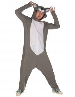 Koala-Kostüm für Herren grau-weiß