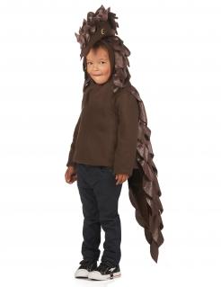 Schuppentier-Kostüm für Kinder Faschingskostüm braun