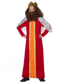 Mittelalterlicher König Jungen-Kostüm für Karneval bunt
