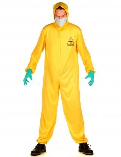 Strahlenschutz-Kostüm für Erwachsene Halloween-Viruskostüm gelb-hellblau
