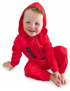 Bankräuber-Kostüm für Babys Halloween-Kostüm rot-schwarz