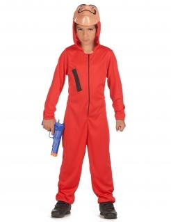 Bankräuber-Kostüm für Kinder Film-Kostüm rot-schwarz