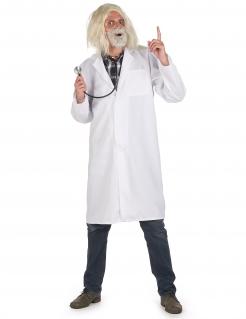 Doktor-Kittel für Herren Faschingskostüm weiss