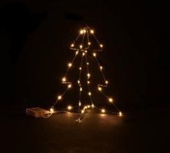 Leuchtender Weihnachtsbaum Deko Weihnachten grün-gold 30 cm