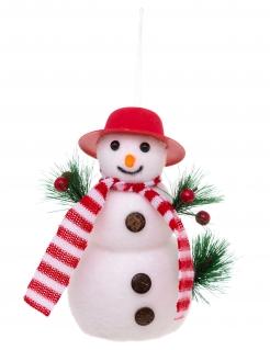 Schneemann-Hängedeko Weihnachten bunt 17 cm