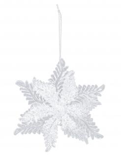 Schneeflocken-Christbaumanhänger Weihnachtsdeko 11 cm