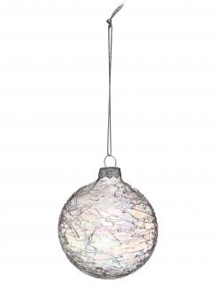 Schillernde Weihnachtskugel Christbaum-Schmuck bunt 7 cm