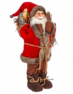 Weihnachtsmann-Dekofigur bunt 30 cm
