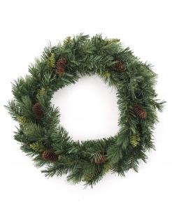 Weihnachtskranz mit Tannenzapfen grün-braun 40 cm
