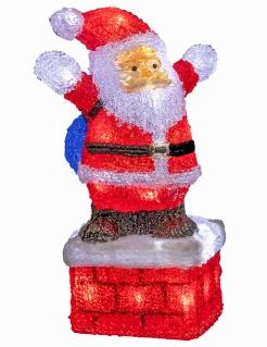 Leuchtender Weihnachtsmann Weihnachts-Gartendeko