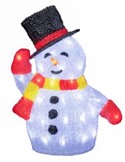Leuchtender Schneemann Weihnachts-Gartendeko
