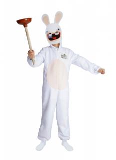 Rabbids™-Kostüm mit Maske für Kinder Raving Rabbids™ weiss