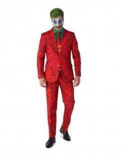 Elegantes Joker™-Kostüm von Suitmeister™ für Erwachsene rot-grün-gelb