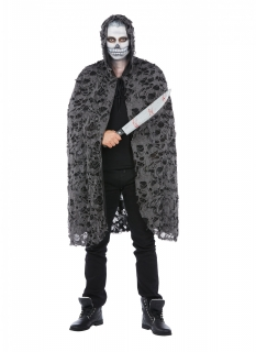 Zombie-Umhang für Erwachsene Halloween-Accessoire grau