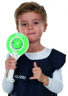 Verkehrskelle mit Licht und Geräuschen Kinder Spielzeug Karneval