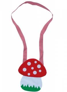 Fliegenpilz-Tasche Kostüm-Tasche rot-weiß