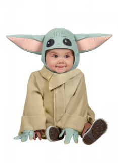 Offizielles Baby Yoda™-Babykostüm türkis-rosa-beigefarben