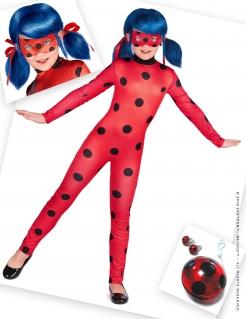Offizielles Ladybug™-Kostümset für Mädchen Miraculous™ rot-schwarz