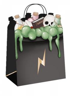 Zauberlehrling-Geschenktüten 4 Stück bunt 20 cm