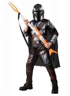 Offizielles The Mandalorian™-Kostüm für Kinder silberfarben-schwarz-braun