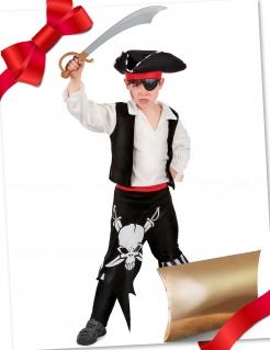 Tolle Piraten-Geschenkbox für Kinder 3-teilig bunt