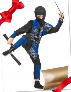 Ninja Geschenkbox für Kinder mit coolem Ninja-Zubehör 7-teilig bunt