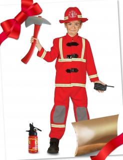 Feuerwehrmann-Geschenkbox für Kinder 5-teilig bunt