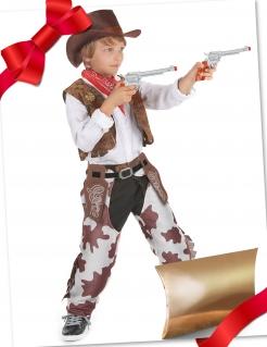 Cowboy-Geschenkbox für Kinder 4-teilig bunt