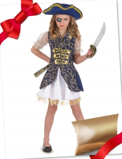 Freche Piratin Geschenkbox für Mädchen bunt