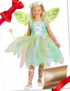 Feen-Kostüm für Kinder Geschenkset grün-bunt