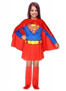 Offizielles Supergirl™-Kostüm für Mädchen rot-blau-gelb