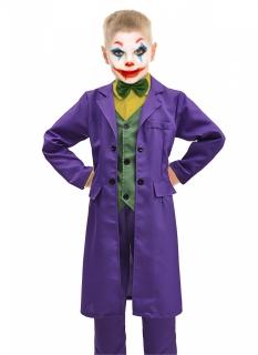 Offizielles Joker™-Kostüm für Jungen violett-grün-gelb