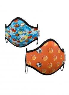 Offizielle Dragon Ball™ Mund- und Nasenmasken für Kinder 2 Stück bunt