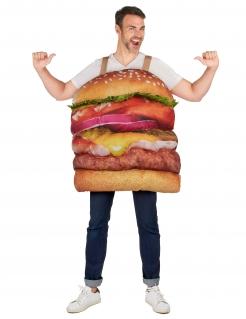 Leckeres Hamburger-Kostüm für Erwachsene bunt