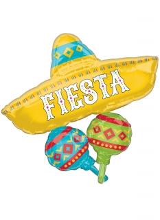 Mexikanischer Sombrero-Luftballon Fiesta bunt 91 cm