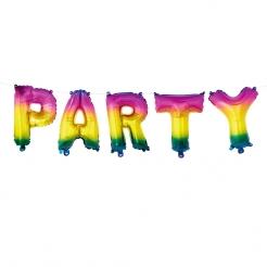 Buchstaben Luftballon-Set Party 5-teilig bunt 3 m